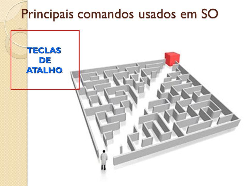 Principais comandos usados em SO TECLASDE ATALHO ATALHO.