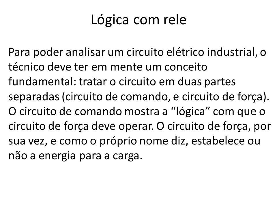 Para poder analisar um circuito elétrico industrial, o técnico deve ter em mente um conceito fundamental: tratar o circuito em duas partes separadas (