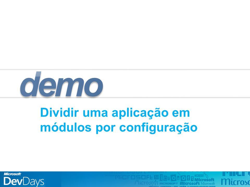 Dividir uma aplicação em módulos por configuração demo