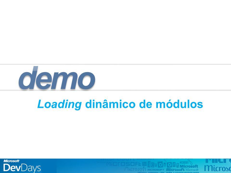 Loading dinâmico de módulos demo