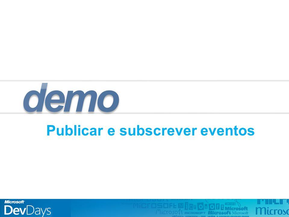 Publicar e subscrever eventos demo