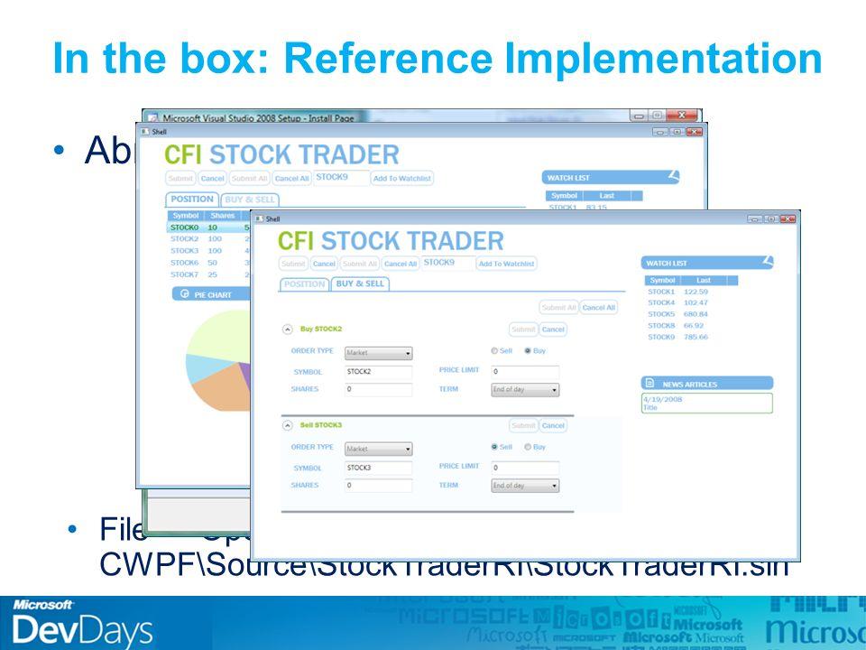 Compor UI - Regiões Composite Application Guidance: Conceitos Bootstrapper DI/IoC Containers Módulos Shell e View Eventos e Comandos Bootstrapper DI/IoC Containers Módulos Shell e View Eventos e Comandos