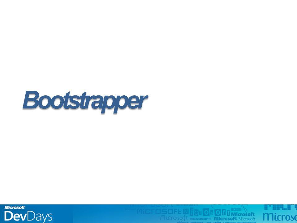 Bootstrapper Responsável pela inicialização Fases: –Configuração –Regiões –Shell –Módulo