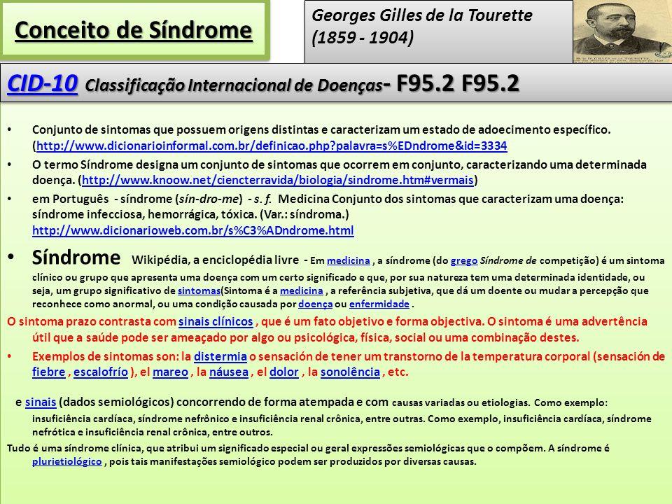 nosológica A síndrome de Gilles de la Tourette (SGT) é transtorno neuropsiquiátrico de início na infância, que se caracteriza pela presença de tiques motores e vocais.