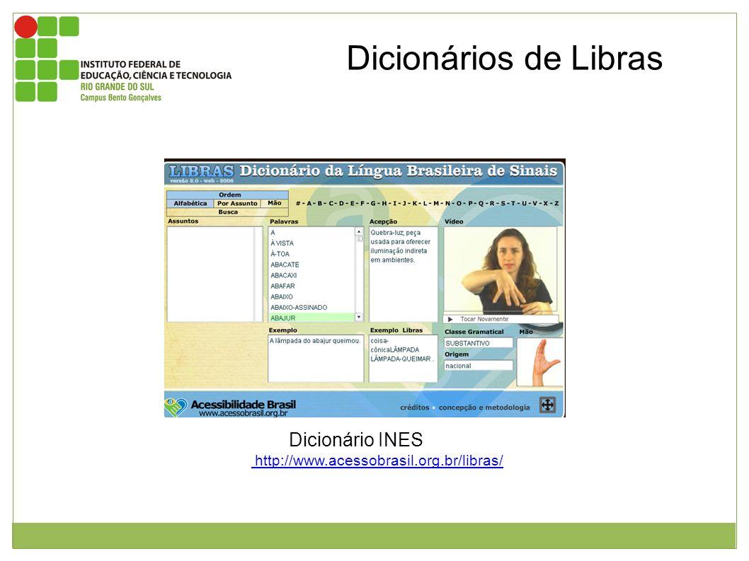 Imagem da interface do usuário do dicionário de libras. Este por sua vez, possui uma caixa de texto para que se possa digitar a palavra para pesquisa,