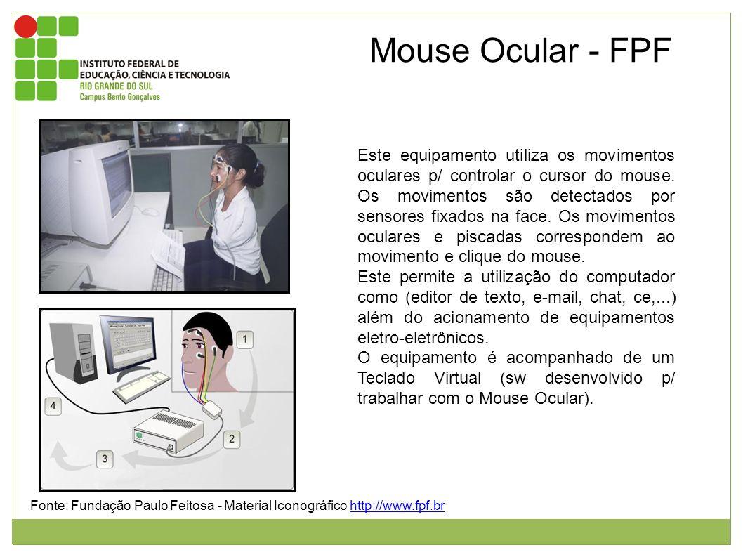 Mouse Ocular - FPF Fonte: Fundação Paulo Feitosa - Material Iconográfico http://www.fpf.brhttp://www.fpf.br Figura 1: Usuária desprovida dos braços se
