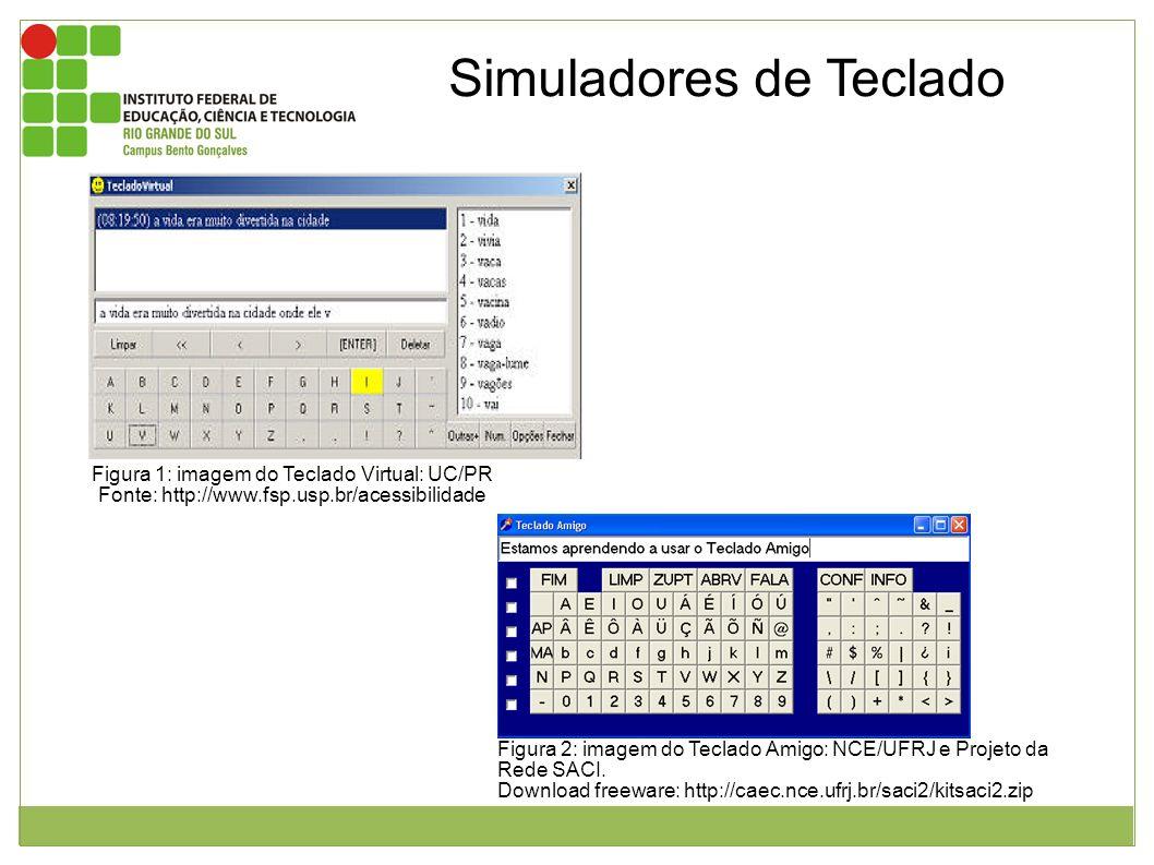 Os simuladores de teclado servem para substituir o uso do teclado tradicional. Este possui a mesma disposição das teclas que um teclado tradicional po