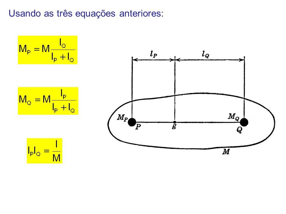 Usando as três equações anteriores: