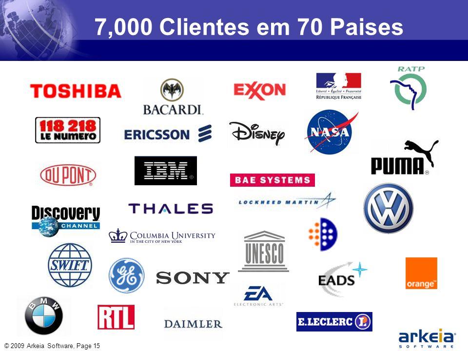 © 2009 Arkeia Software, Page 15 7,000 Clientes em 70 Paises