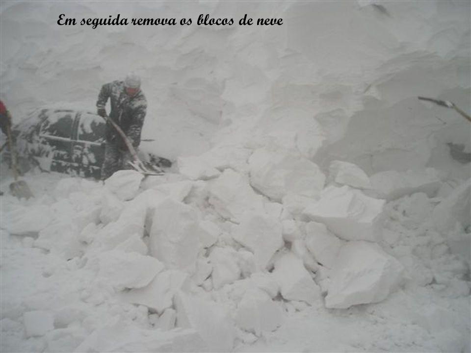Em seguida remova os blocos de neve