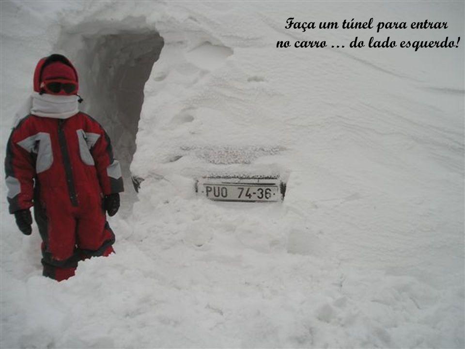 Cuidado para não escorregar no gelo