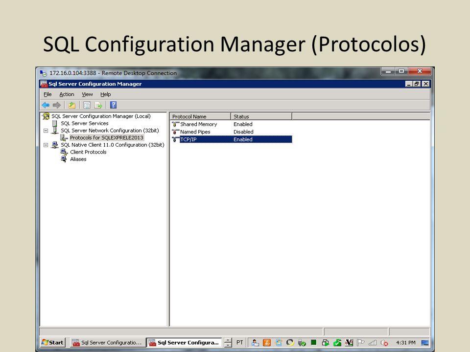 SQL Configuration Manager (Protocolos)