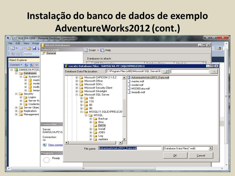Configuração do Servidor SQL Server 2012 (Advanced)
