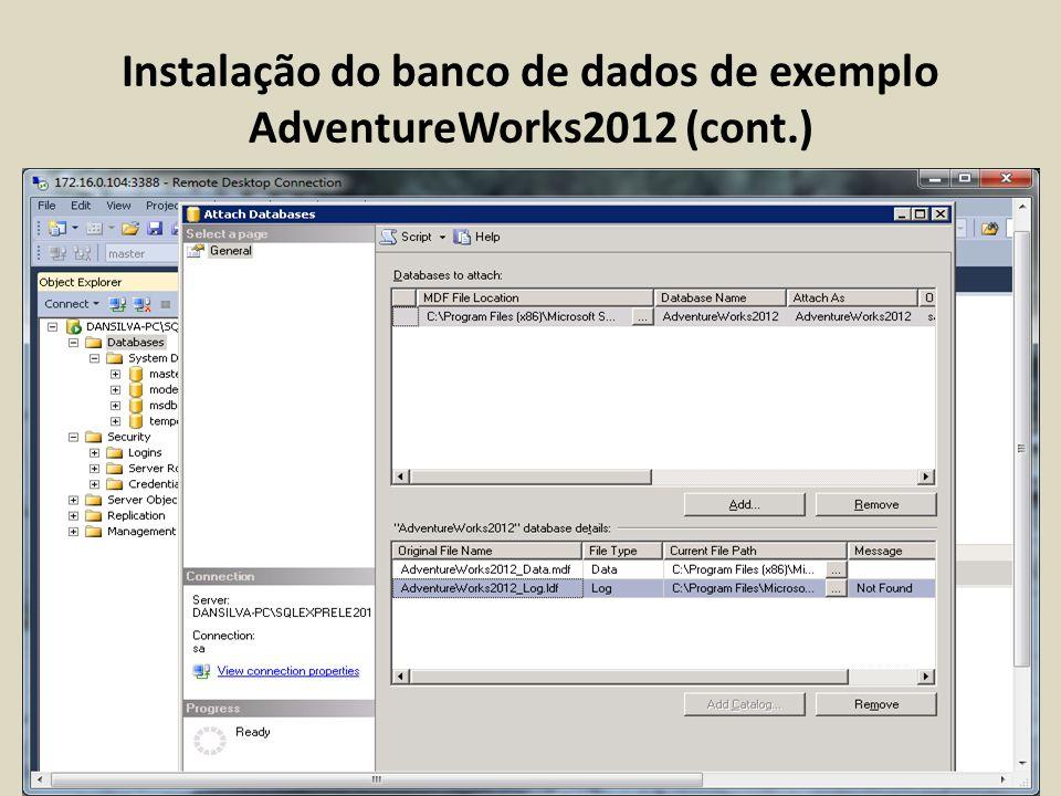 Configuração do Servidor SQL Server 2012 (Permissions)