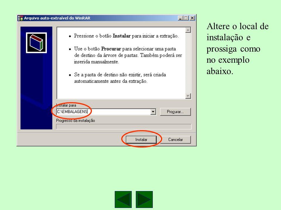 Acesse o Windows explorer e de um duplo clique no arquivo SETUP.EXE
