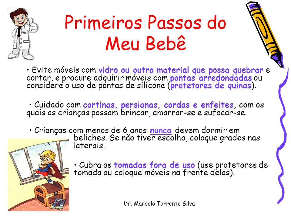 Dr. Marcelo Torrente Silva Primeiros Passos do Meu Bebê Evite móveis com vidro ou outro material que possa quebrar e cortar, e procure adquirir móveis