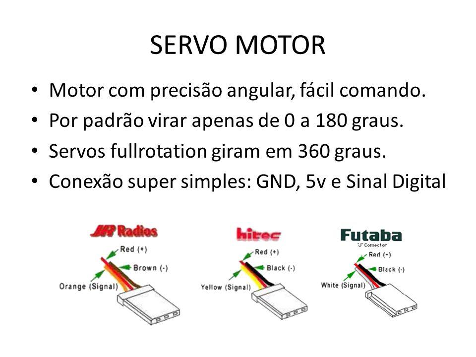 SERVO MOTOR Motor com precisão angular, fácil comando.