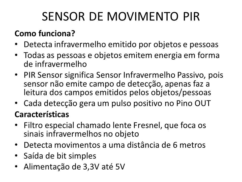 SENSOR DE MOVIMENTO PIR Como funciona.