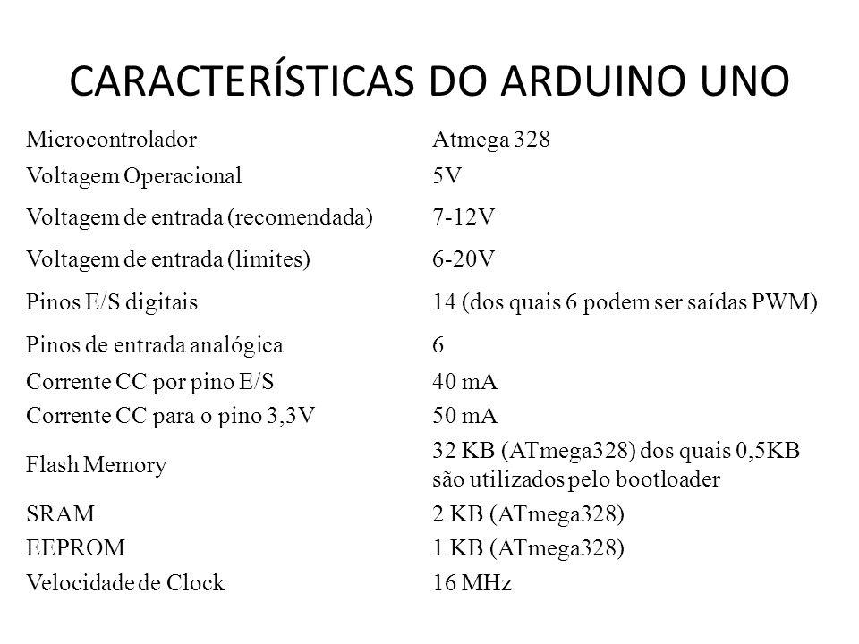 Controlando o Arduino por comandos de voz void loop(){ if(Serial.available()){ char c = Serial.read(); if(c == 0x11){ funcao = 1; } if(c == 0x12){ funcao = 0; } if(c == 0x13){ funcao = 2; tempo = tempo - 100; if(tempo <= 0){ tempo = 10; }