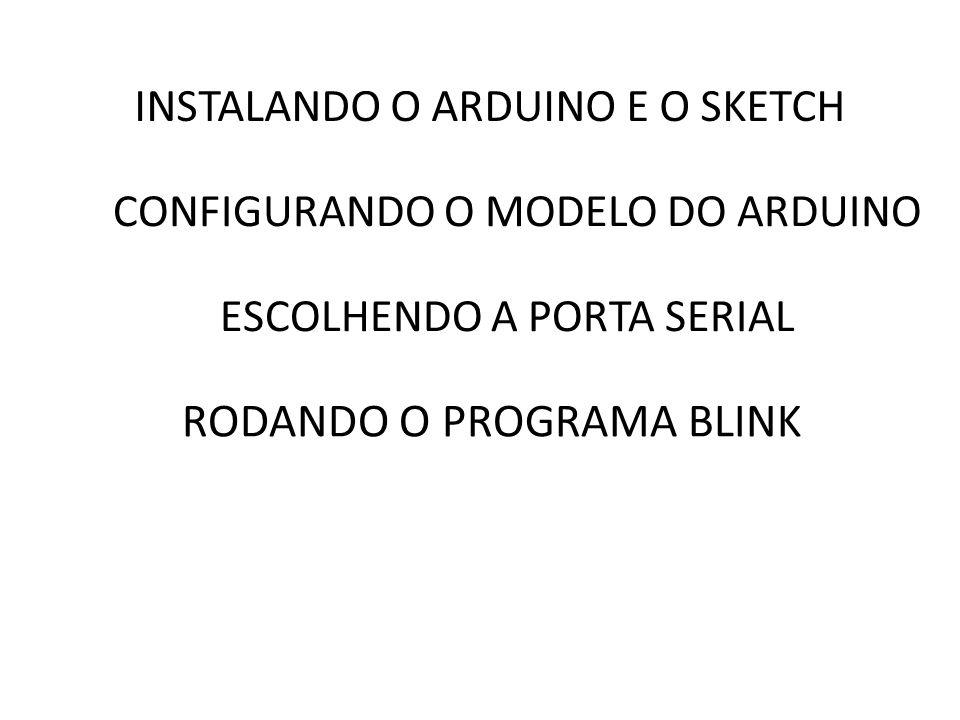 Exemplo: /* Nesse código a função setup( ) ativa a porta serial em 9600 bits/s e a função loop( ) fica transmitindo a frase Hello World.