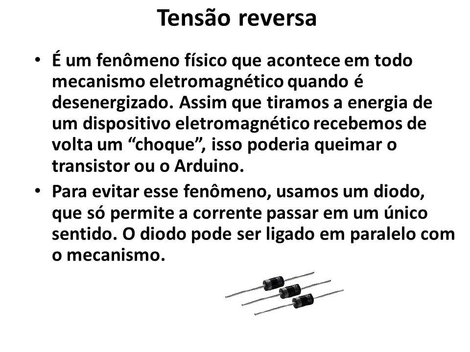 Tensão reversa É um fenômeno físico que acontece em todo mecanismo eletromagnético quando é desenergizado.