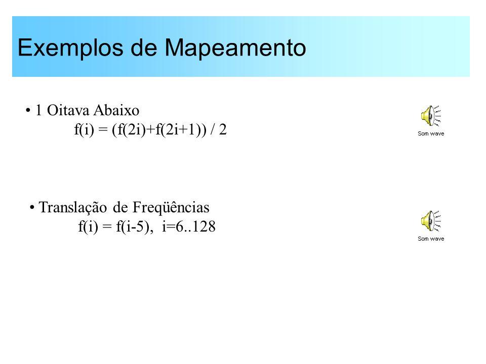 Processamento Não-linear: Compressão -0.500.51 -0.8 -0.6 -0.4 -0.2 0 0.2 0.4 0.6 0.8 1 Compressão de amplitudes para compensar perda de limiar 024681012141618 x 10 4 -0.8 -0.6 -0.4 -0.2 0 0.2 0.4 0.6 0.8