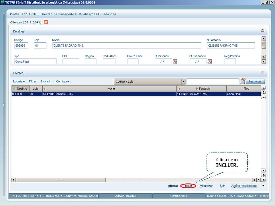 As informações de cadastro são divididas em ficheiros, conforme assunto.
