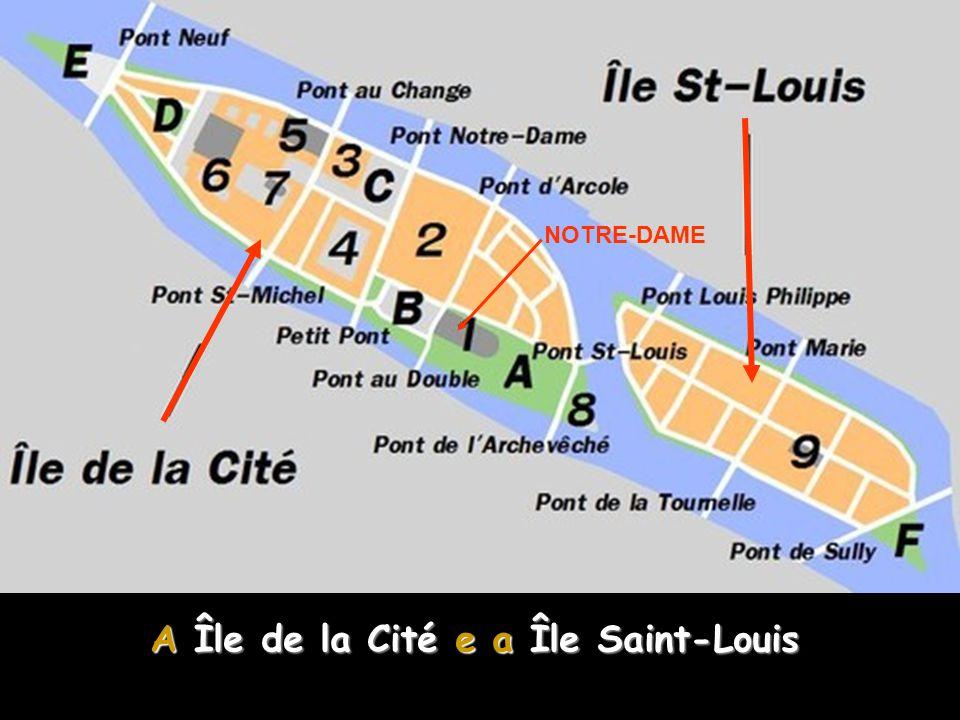 A Île de la Cité e a Île Saint-Louis A Île de la Cité e a Île Saint-Louis são duas ilhas no rio Sena em Paris, consideradas o centro da capital francesa.
