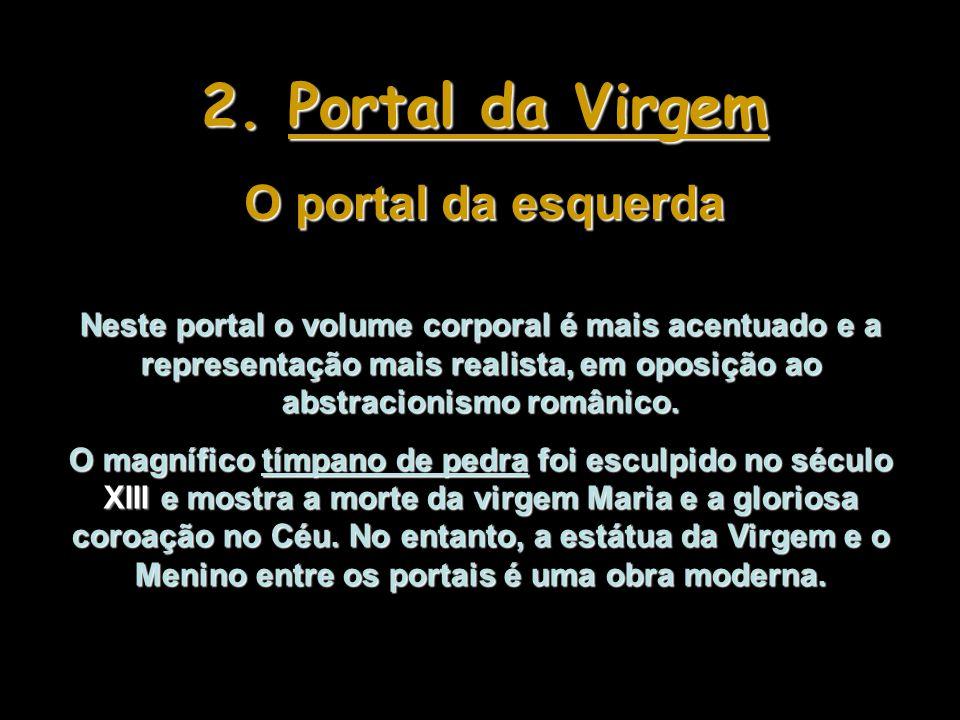 Detalhe da arquivolta do Portal de Julgamento - Inferno Detalhe da arquivolta (esquerda) do Portal de Julgamento – Abraão recebendo as almas no Céu.