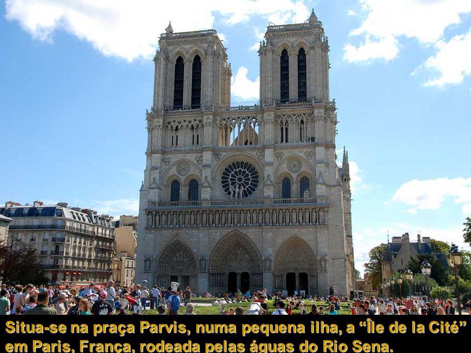 A rosácea do braço norte do transepto tem 13 m de diâmetro e um azul forte como cor dominante.