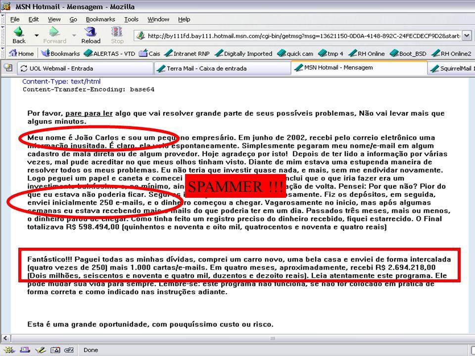 Contribuindo para a segurança da sua organização (seja responsável!) Identificando golpes virtuais: Normalmente baseados em Engenharia Social: Banco o
