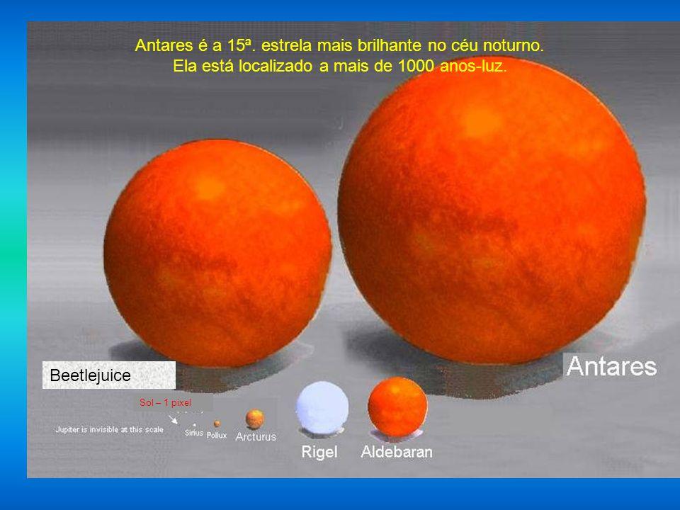Nosso Sol Sirius Arturus Jupiter é 1 pixel na ponta da flexa. A Terra não é visivel nesta escala