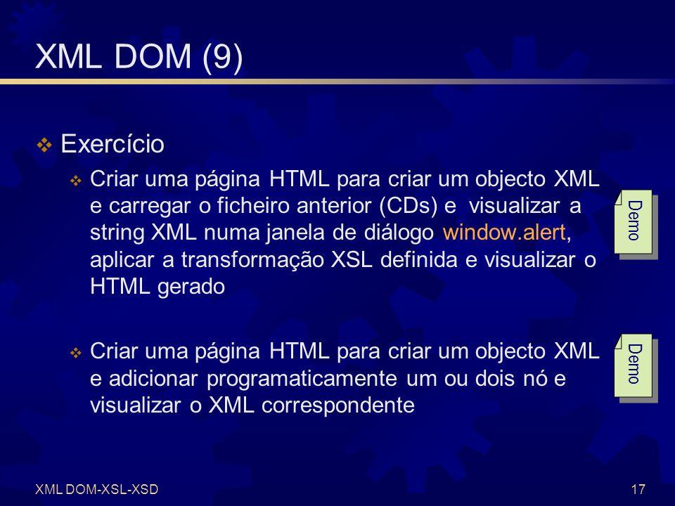 XML DOM-XSL-XSD18 XSD