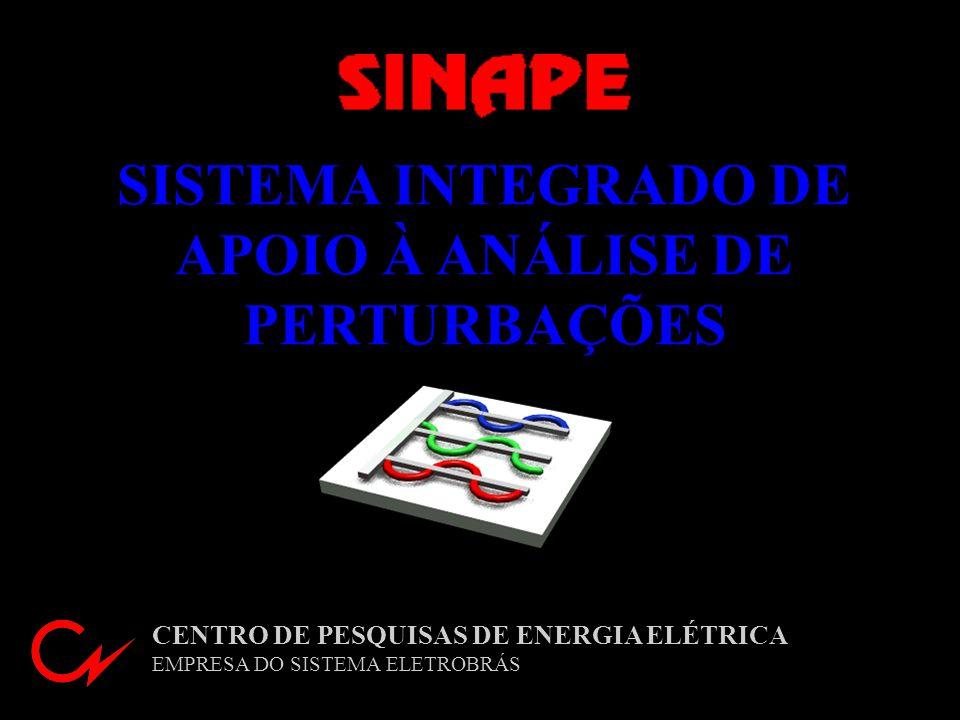 SISTEMA INTEGRADO DE APOIO À ANÁLISE DE PERTURBAÇÕES CENTRO DE PESQUISAS DE ENERGIA ELÉTRICA EMPRESA DO SISTEMA ELETROBRÁS