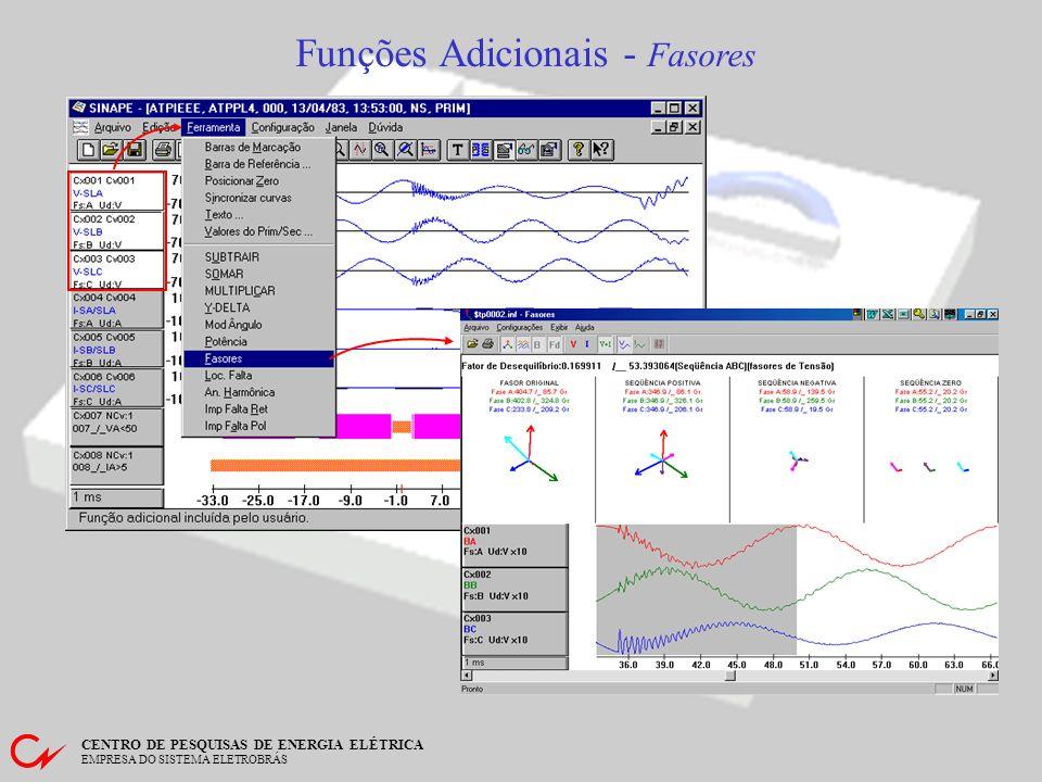 CENTRO DE PESQUISAS DE ENERGIA ELÉTRICA EMPRESA DO SISTEMA ELETROBRÁS Funções Adicionais - Opera Soma dos 3 canais selecionados Exemplo da SOMA de 3 canais