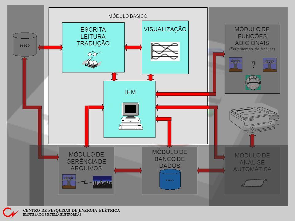 CENTRO DE PESQUISAS DE ENERGIA ELÉTRICA EMPRESA DO SISTEMA ELETROBRÁS Funções Adicionais - Localização de Falta Tela contendo o resultado da localização de faltas