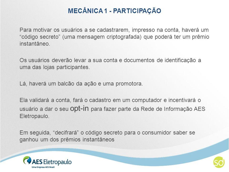 MECÂNICA 1 - PREMIAÇÃO 1.000 vale-compras distribuídos através de cartões multicash que só poderão ser utilizados nas lojas parceiras.