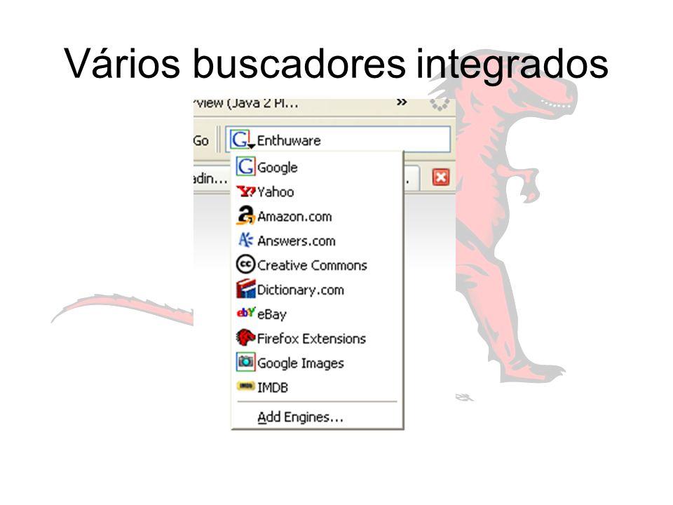 Vários buscadores integrados
