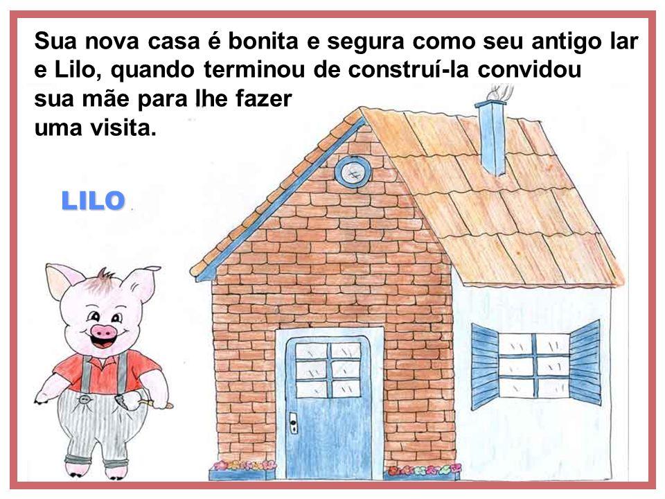 LILO Sua nova casa é bonita e segura como seu antigo lar e Lilo, quando terminou de construí-la convidou sua mãe para lhe fazer uma visita.