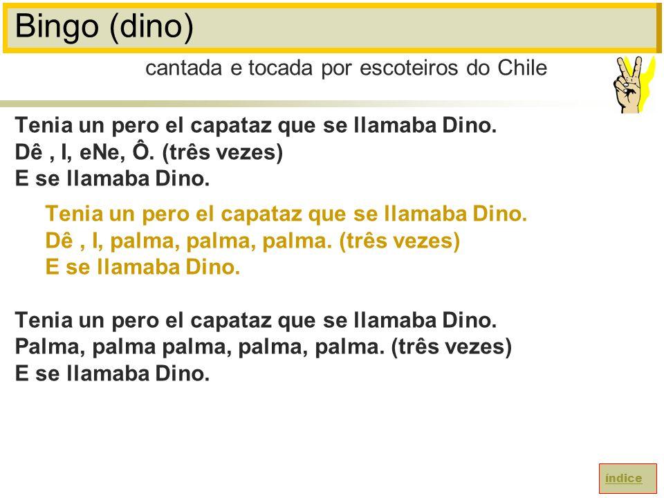 Bingo (dino) Tenia un pero el capataz que se llamaba Dino.
