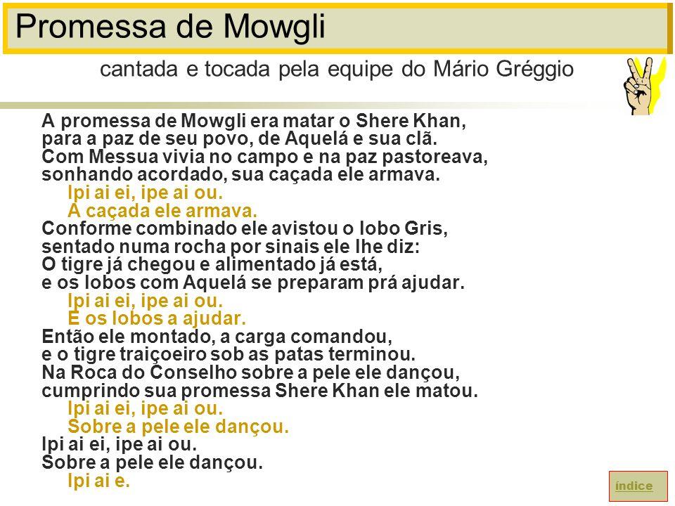 Promessa de Mowgli A promessa de Mowgli era matar o Shere Khan, para a paz de seu povo, de Aquelá e sua clã.
