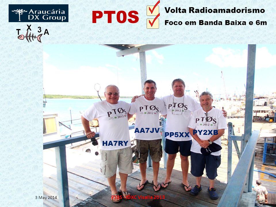 T X 3 A 3 May 2014 PT0S - IDXC Visalia 2013 2 HA7RY AA7JV PP5XX PY2XB Volta Radioamadorismo Foco em Banda Baixa e 6m