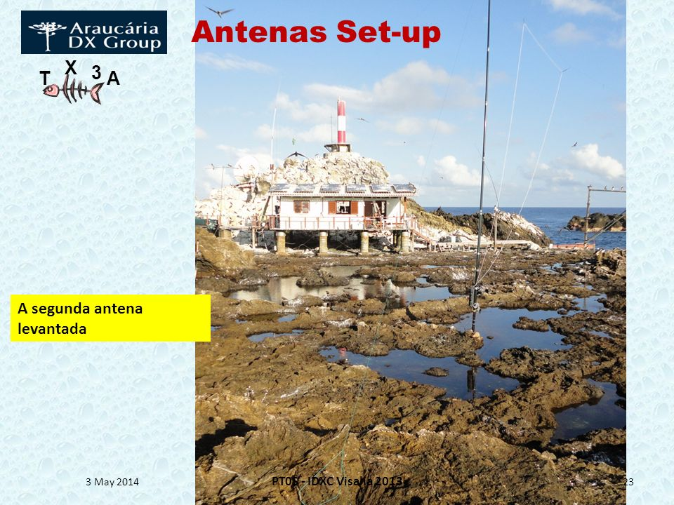 T X 3 A 3 May 2014 PT0S - IDXC Visalia 2013 23 A segunda antena levantada Antenas Set-up
