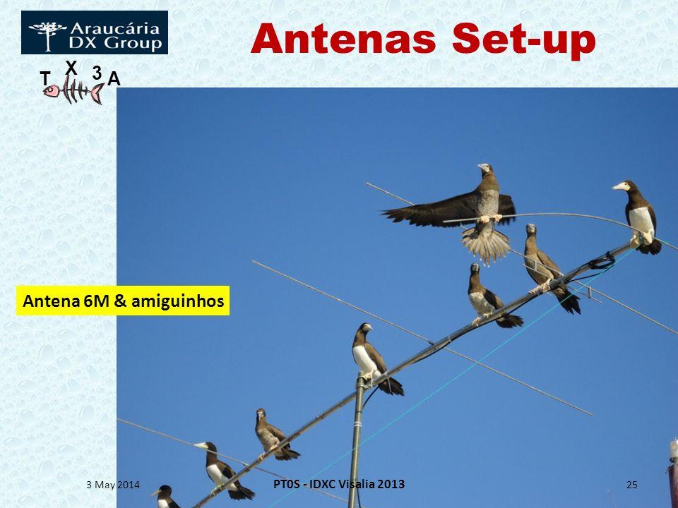 T X 3 A 3 May 2014 PT0S - IDXC Visalia 2013 25 Antena 6M & amiguinhos Antenas Set-up