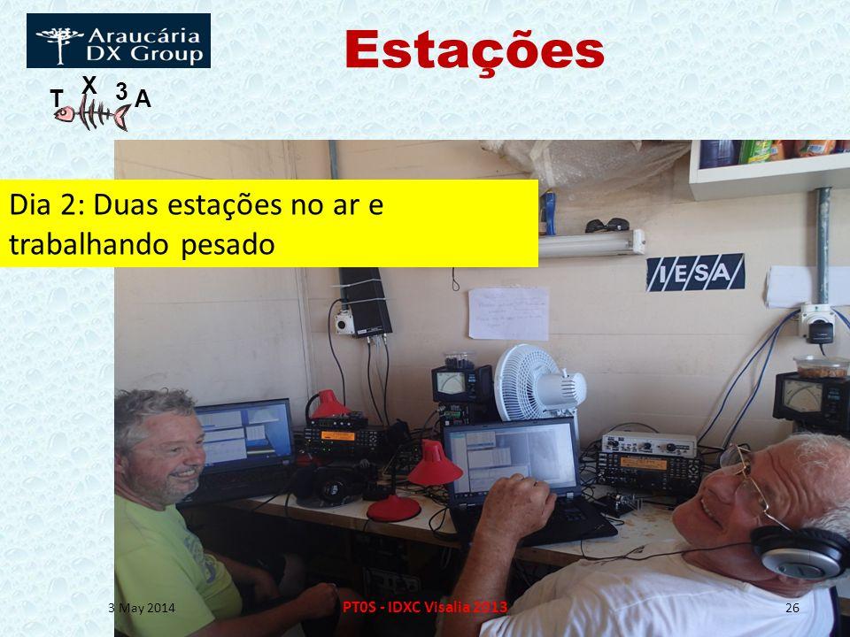 T X 3 A Estações 3 May 2014 PT0S - IDXC Visalia 2013 26 Dia 2: Duas estações no ar e trabalhando pesado