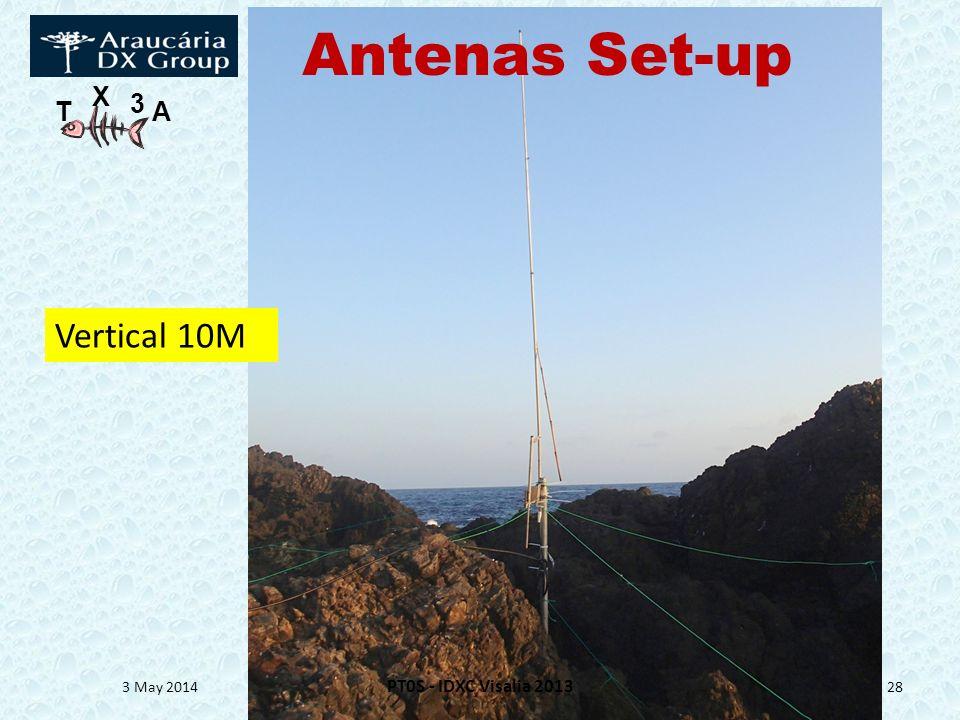 T X 3 A 3 May 2014 PT0S - IDXC Visalia 2013 28 Vertical 10M Antenas Set-up