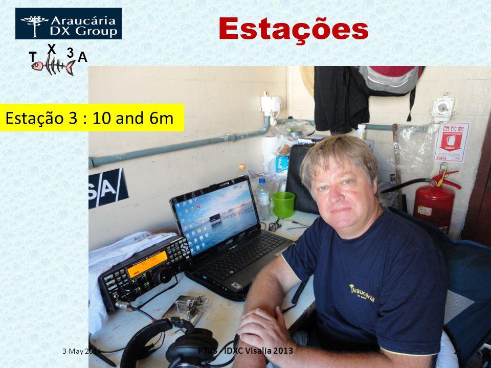 T X 3 A Estações 3 May 2014 PT0S - IDXC Visalia 2013 29 Estação 3 : 10 and 6m