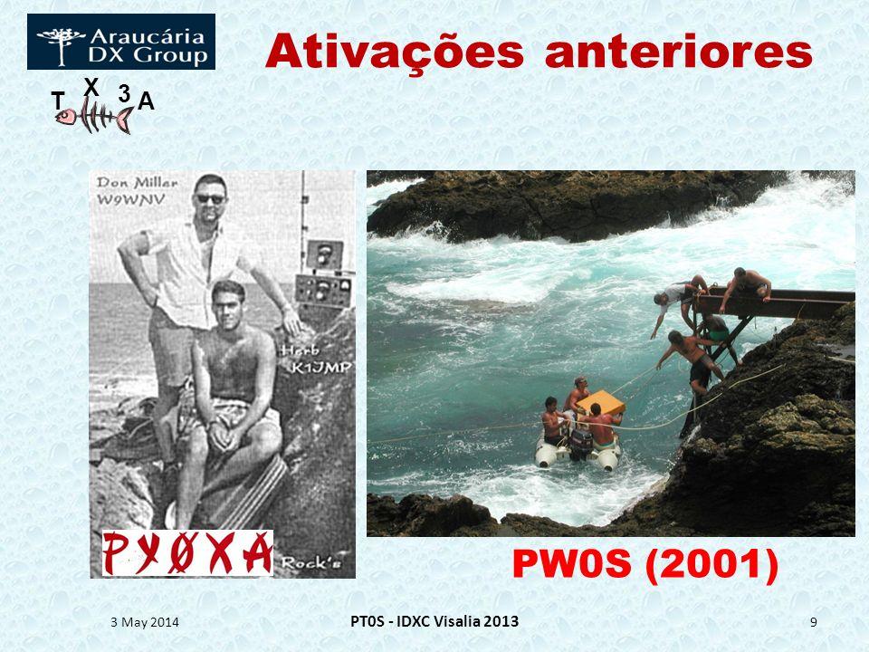 T X 3 A Agradecimentos 3 May 2014 PT0S - IDXC Visalia 2013 40 PY5EG: Atilano de OmsMade it possible.