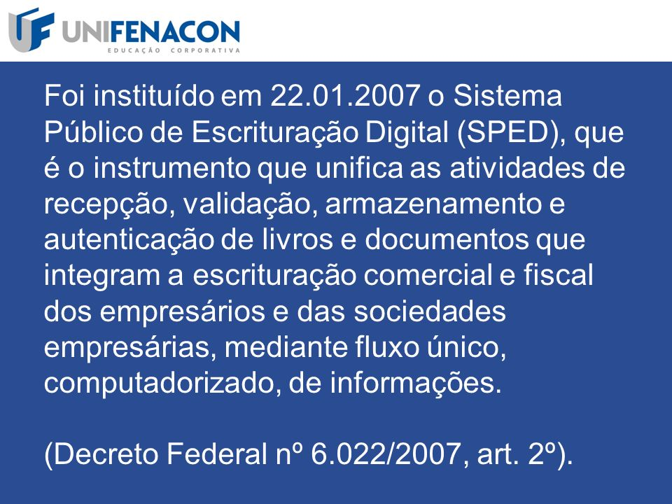 Qual é a classificação, no Sped Contábil, do livro Diário que contempla todos os fatos contábeis?