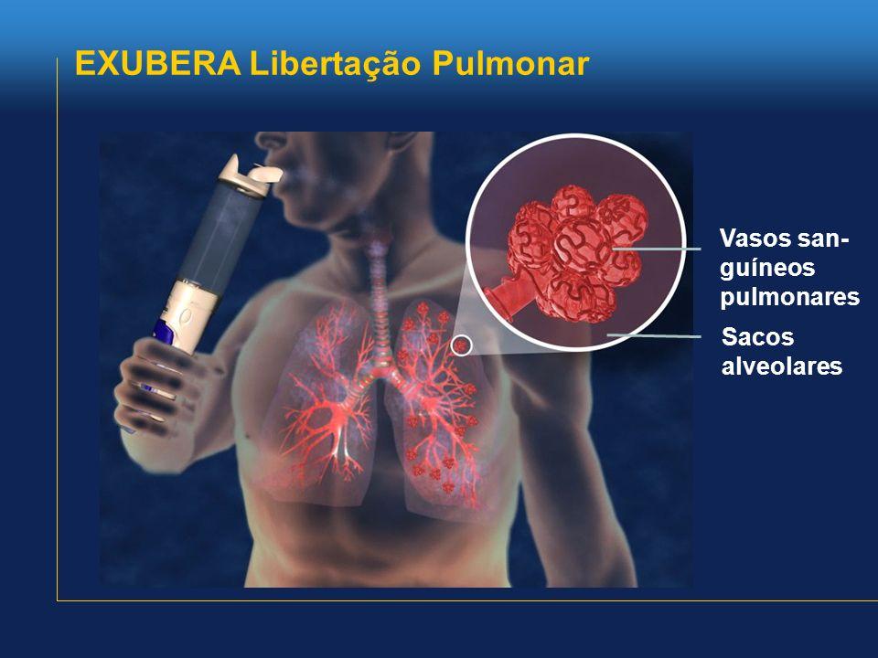 Vasos san- guíneos pulmonares Sacos alveolares